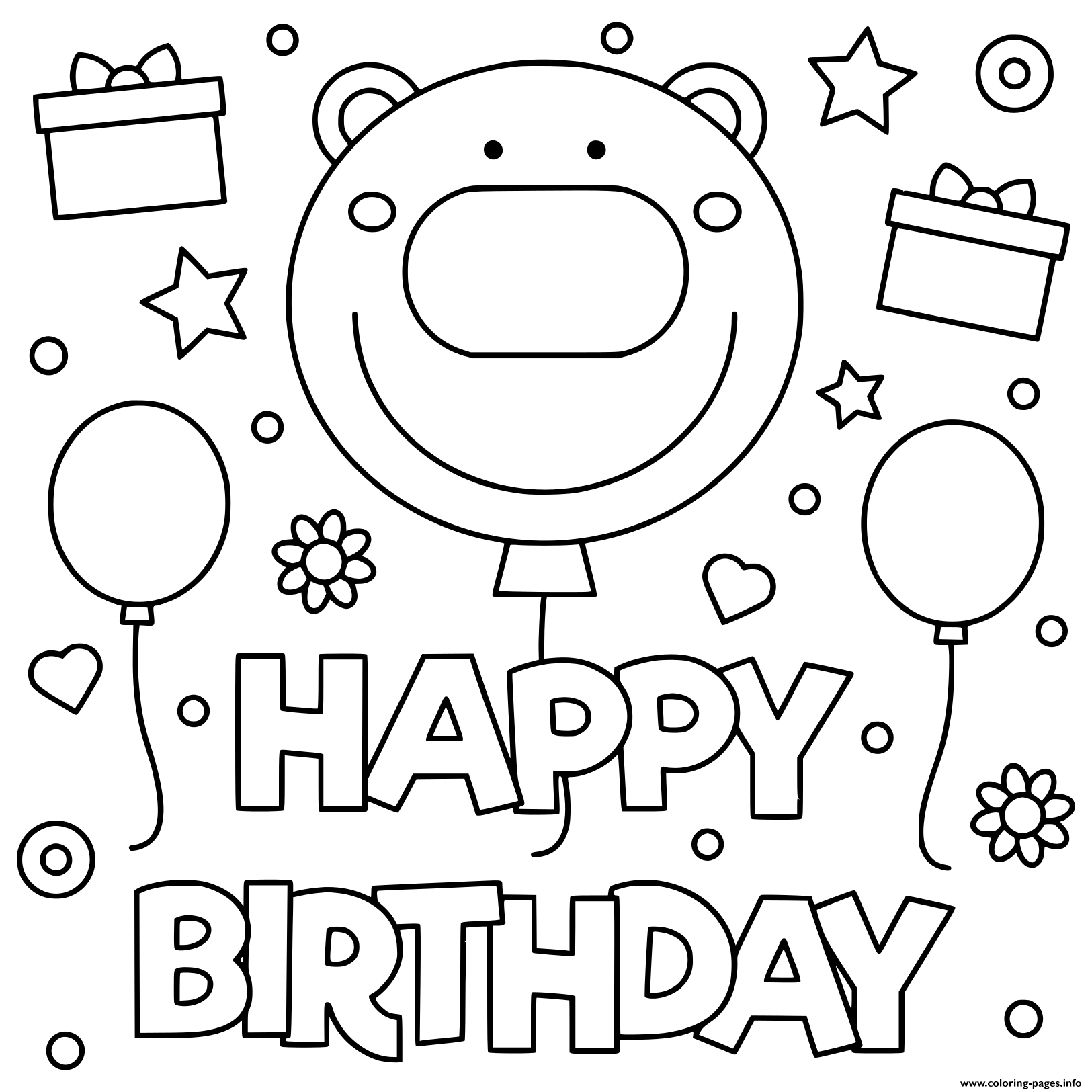 Happy Birthday Coloring Pages Picture Ideas Sheet 1559228570happy Smile Kids  Illustration Printable 16th – Approachingtheelephant