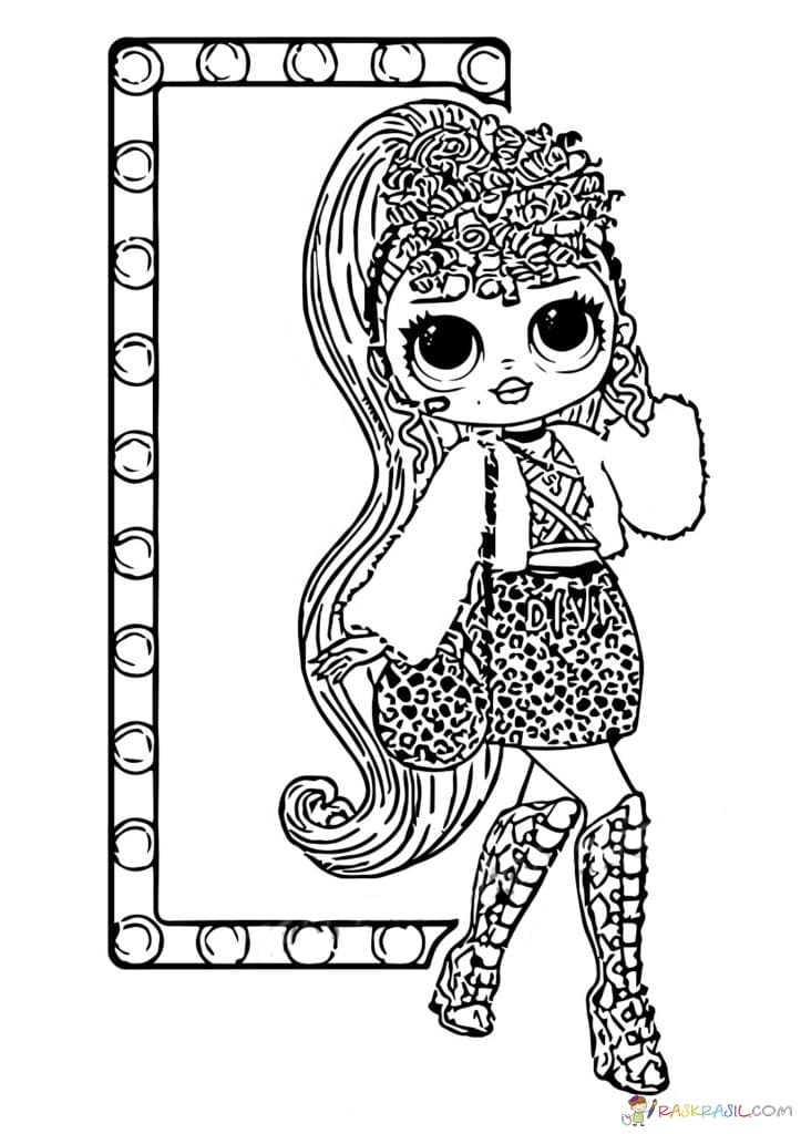 Coloring Pages Lol Omg Print New Popular Dolls For Free Coloring Home