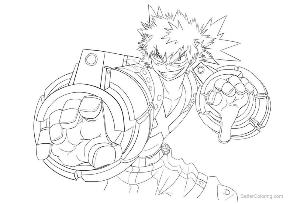 MHA Coloring Pages - Coloring Home