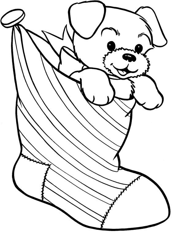 coloring : Christmas Dog Coloring Pages Christmas Dog Coloring Pictures'  Free Printable Christmas Dog Coloring Pages' Christmas Dog Printable Coloring  Pages or colorings