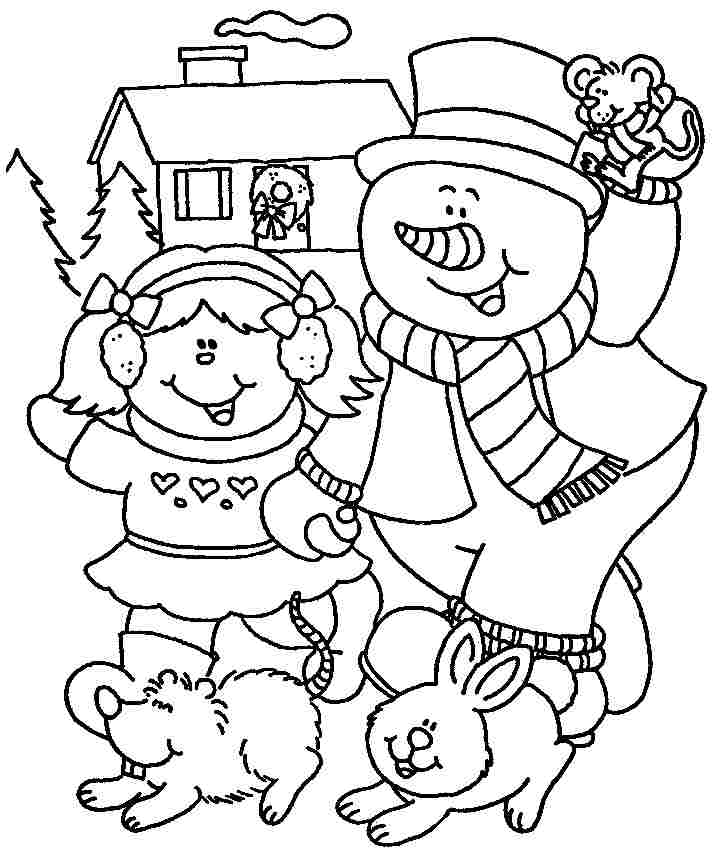 Winter coloring pages for kindergarten coloring home for Winter coloring pages for preschool