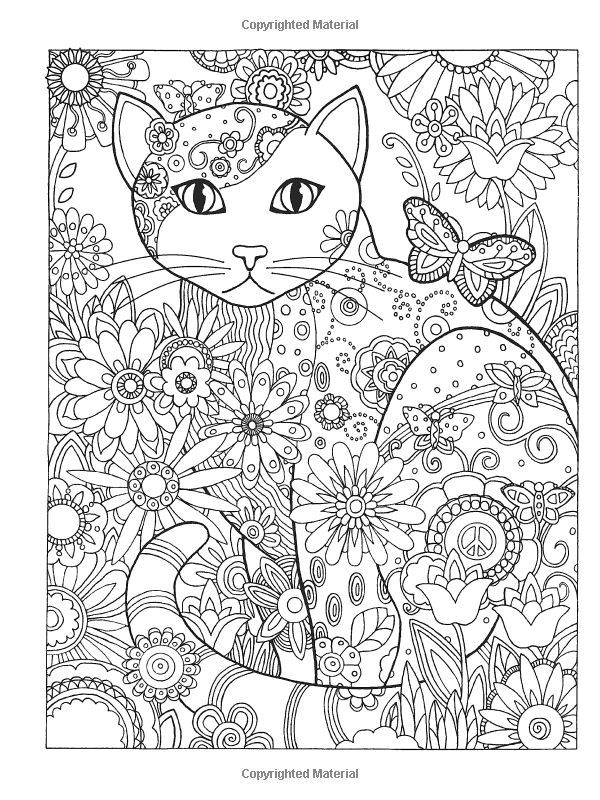Abstract Cat Printable Coloring Page - Coloring Home
