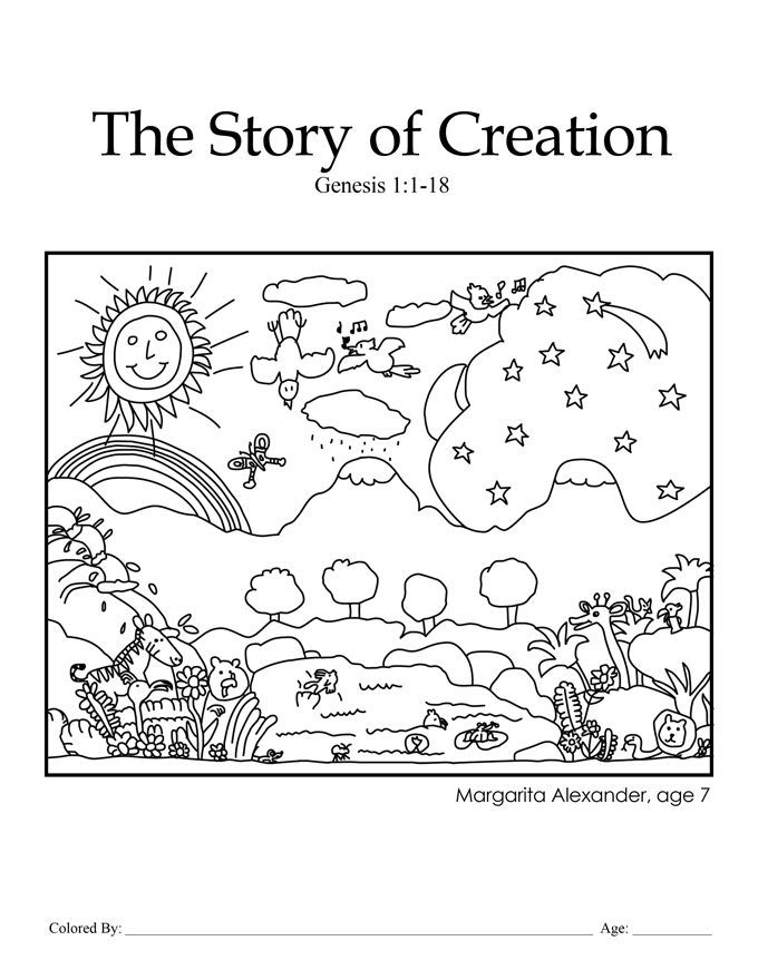 In The Beginning God Created Coloring Pages - Coloring Home