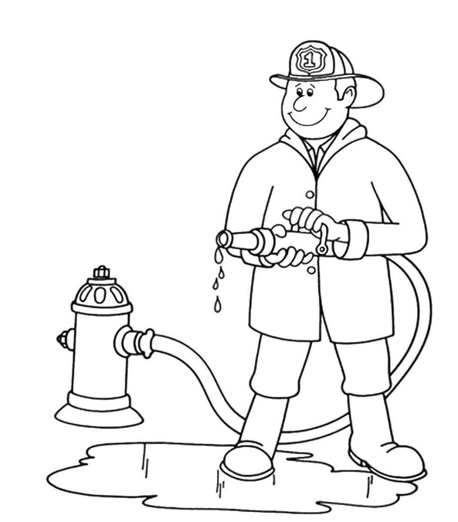 printable coloring pages fireman - photo#36