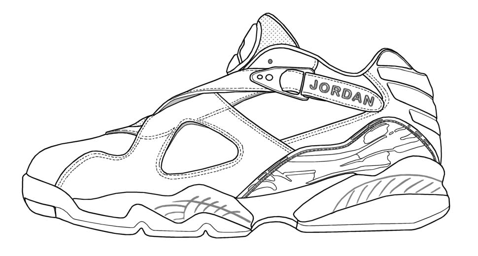 Jordan 11 Coloring Pages