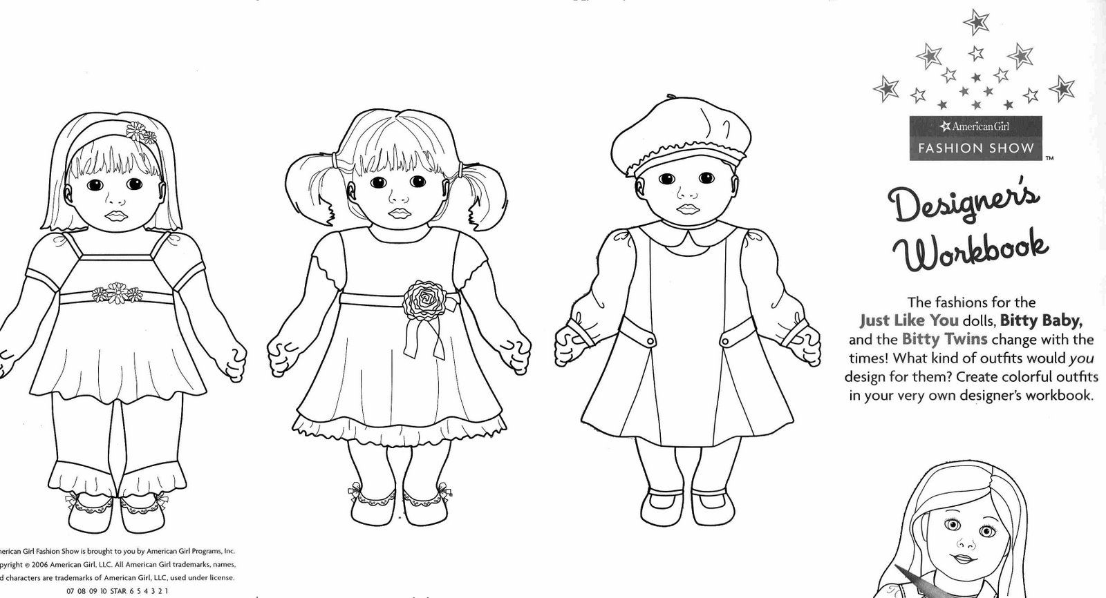 American Girl To Print - Coloring Pages for Kids and for Adults