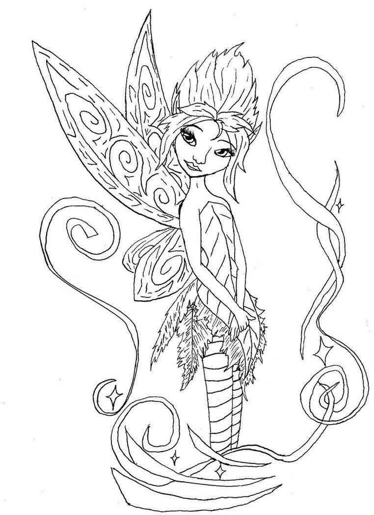 Fairy Coloring Pages Free Printable | Free Coloring Pages