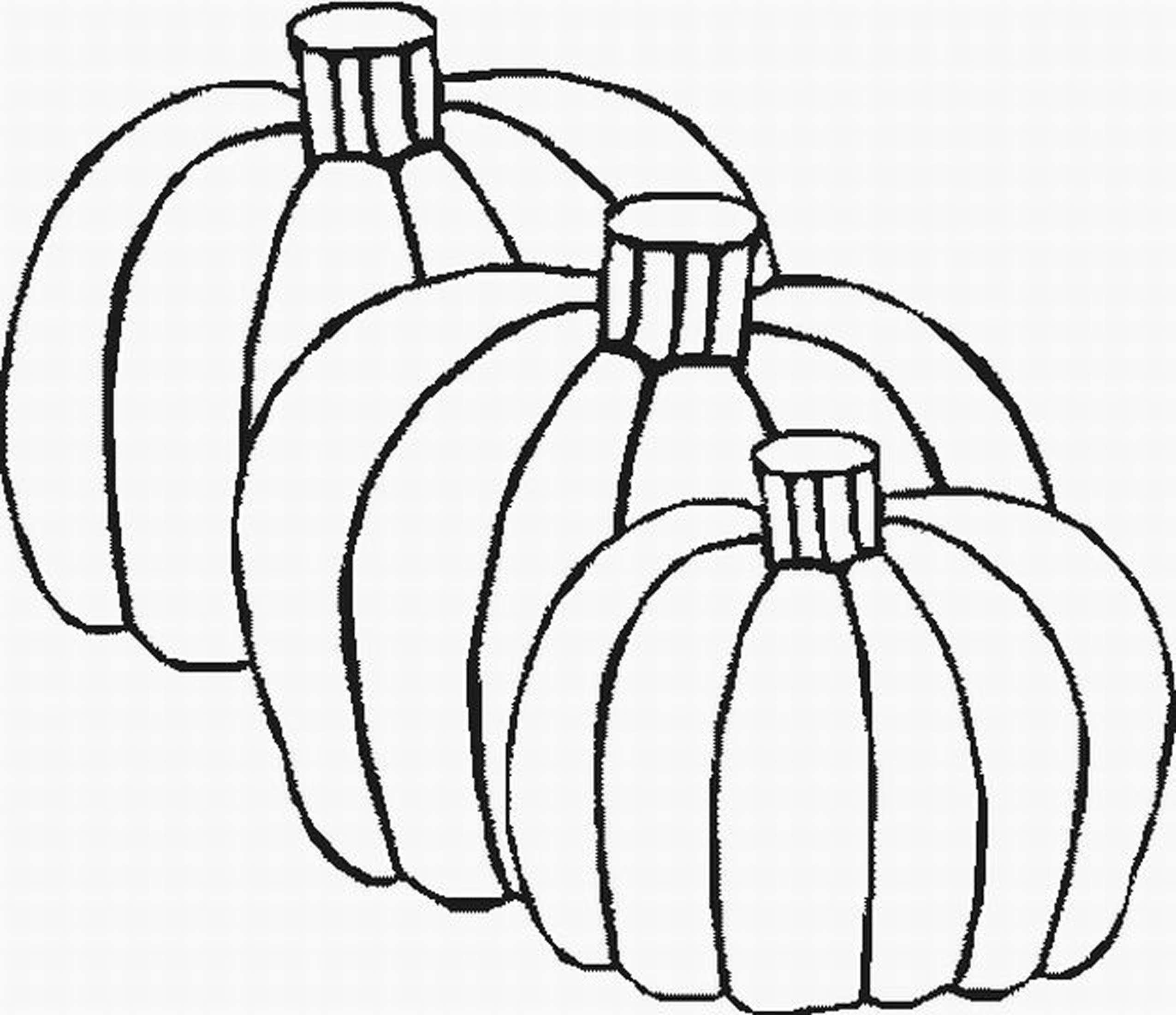 Fall Pumpkin Coloring Pages To