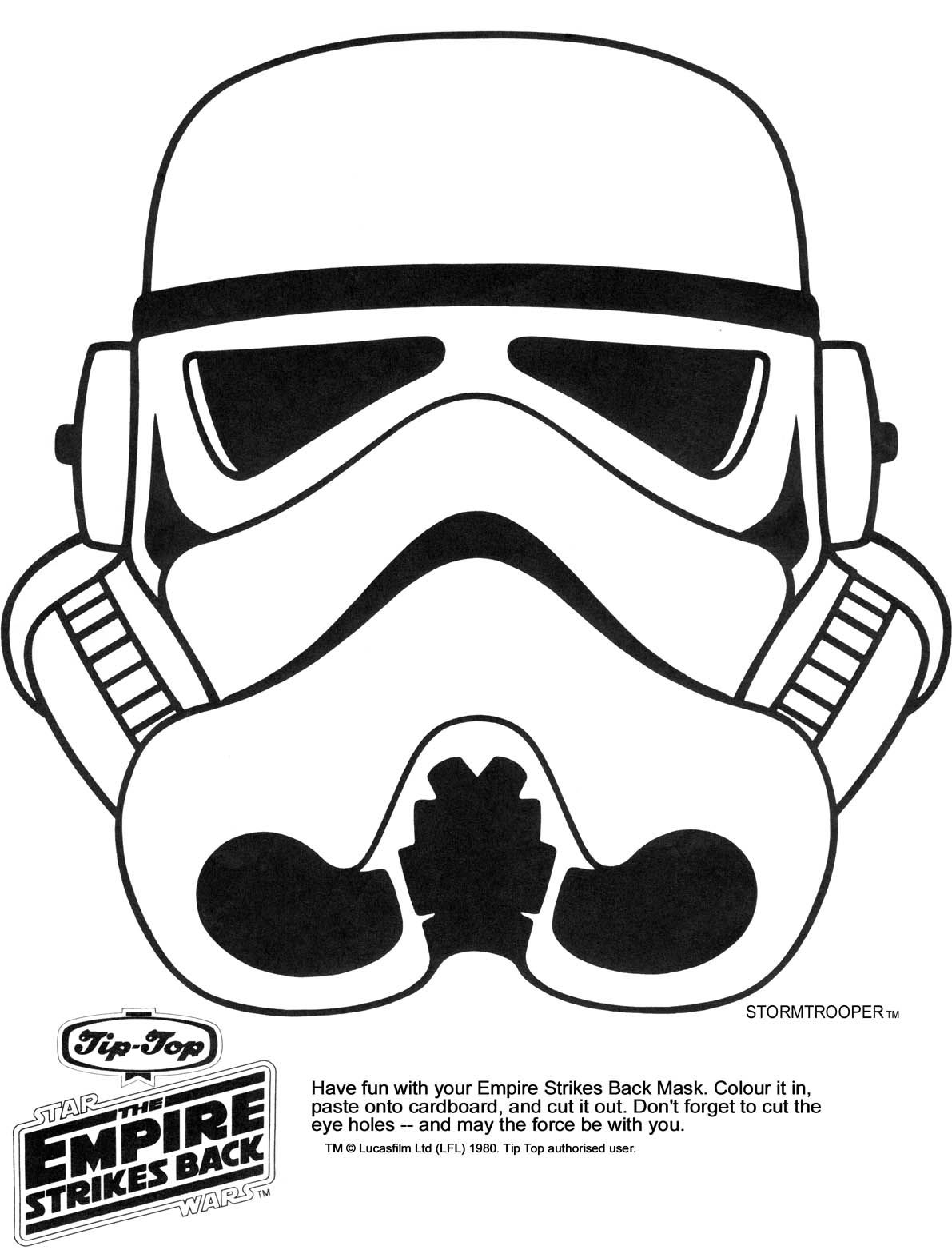 Stormtrooper Helmet Coloring Page - Coloring Home