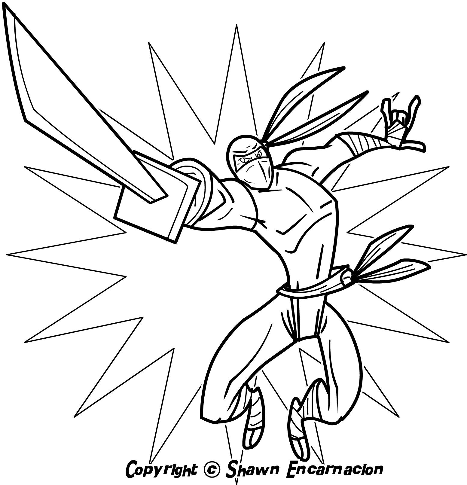 Ninja coloring pages to download and print for free