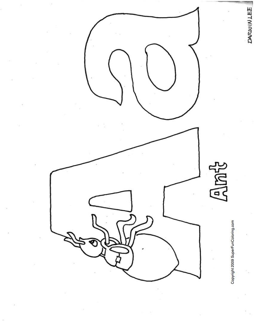 small alphabet coloring pages - photo#43