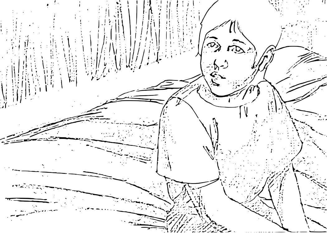 Baby Samuel Coloring Page