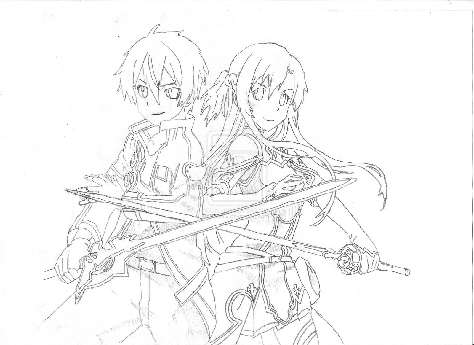12 pics of sword art online anime coloring page sword for Online anime coloring pages