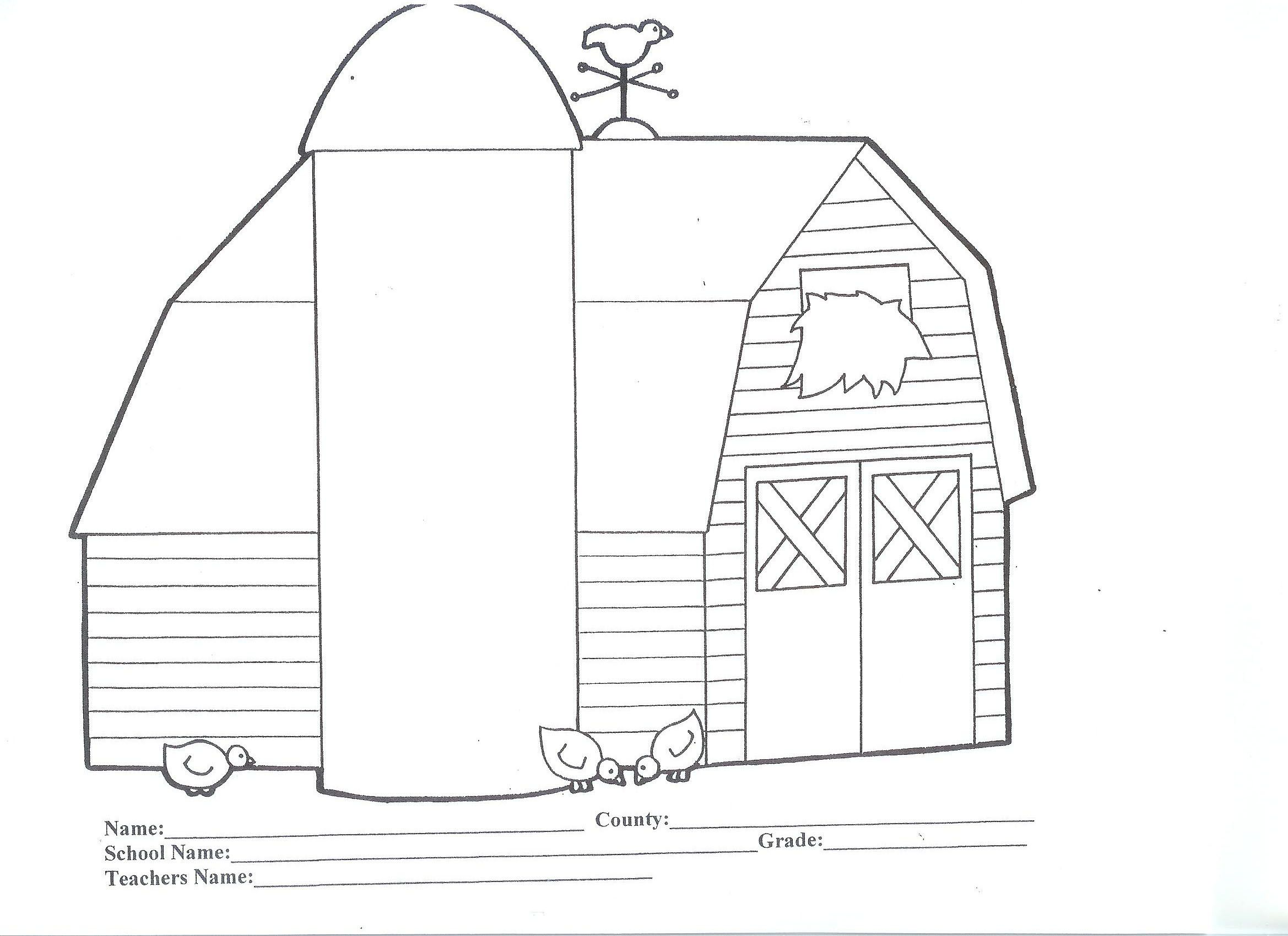 barn pictures to coloring pages - photo#20