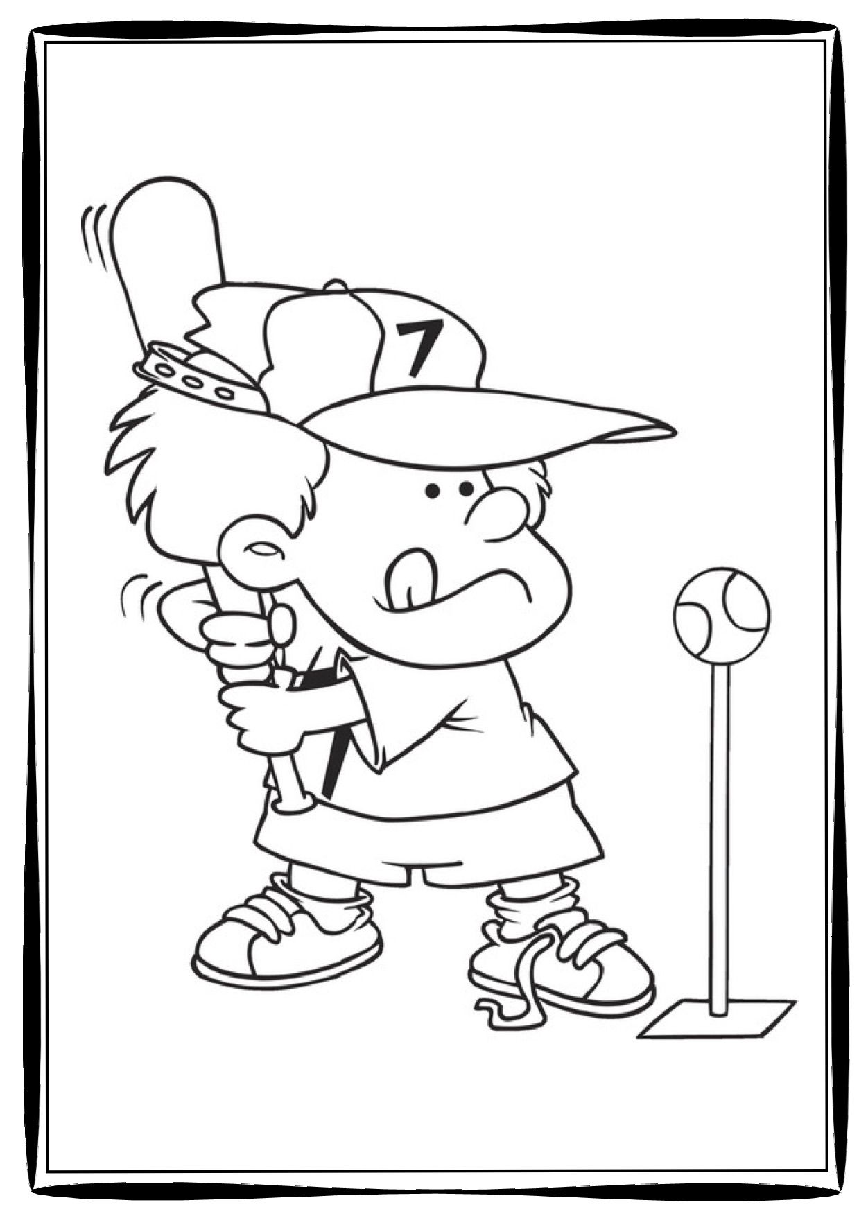 Babe Ruth Coloring Page Coloring