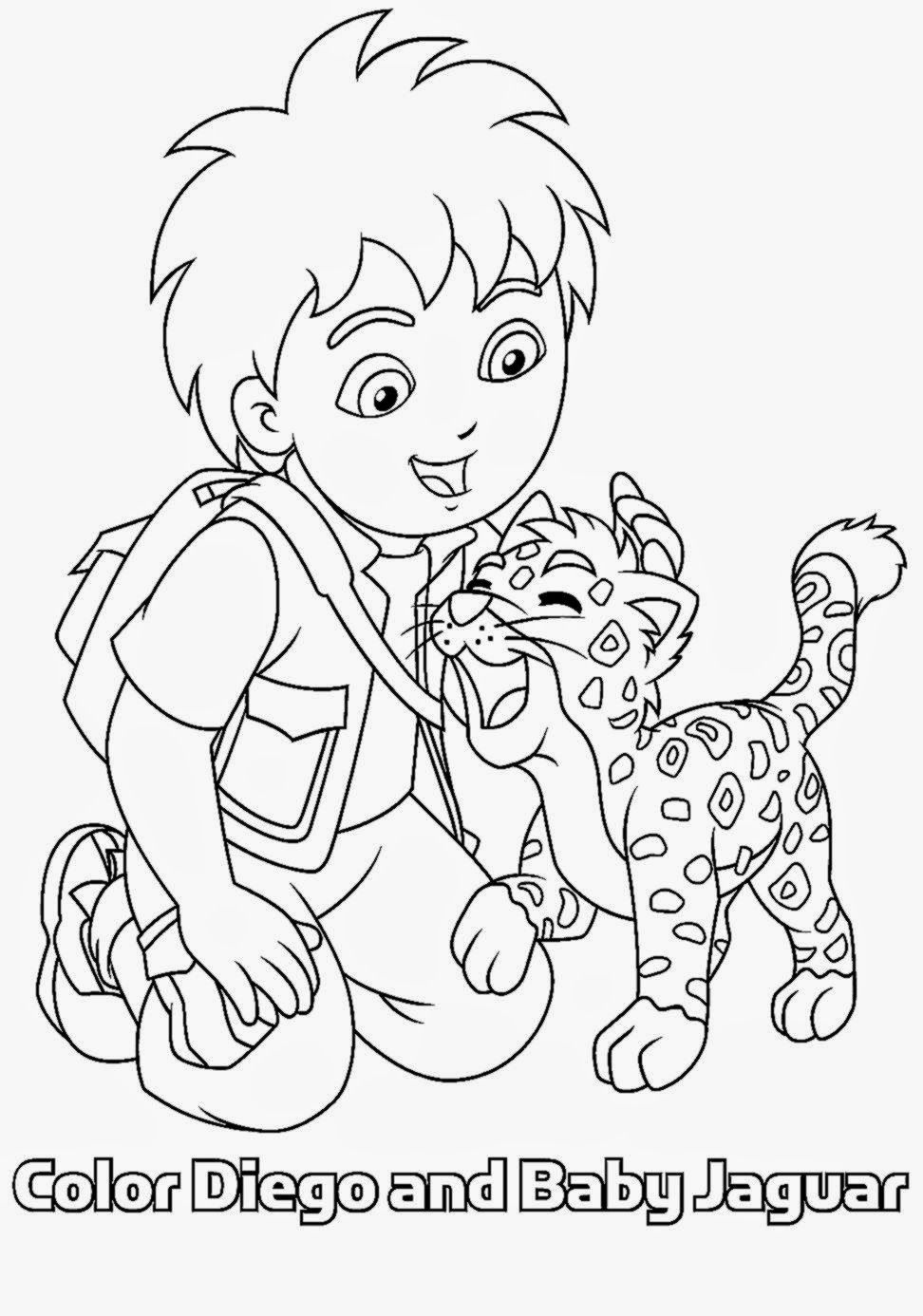 Diego Coloring Book | Free Coloring Pages - Coloring Home