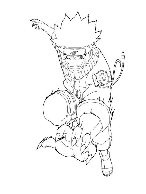 Printable Naruto Coloring Pages