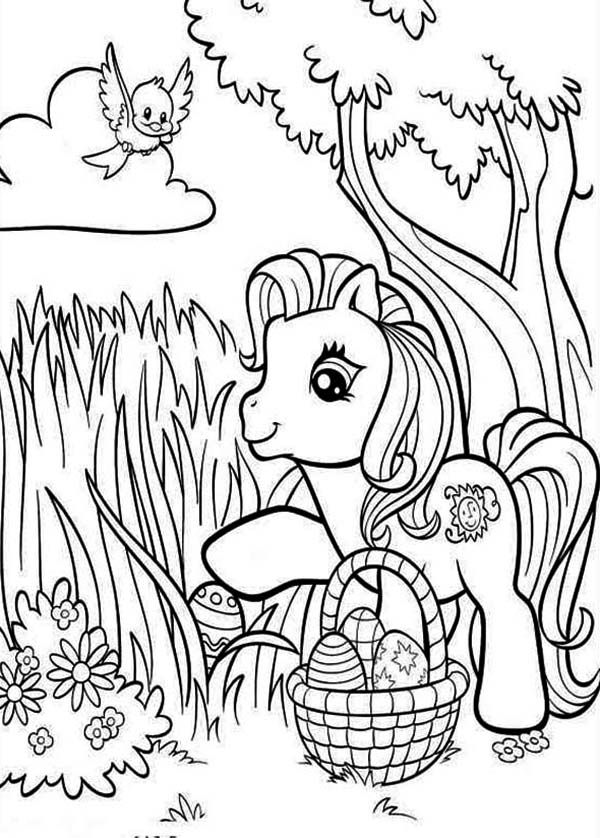 Pinkie Pie Looking For Easter Eggs In My Little Pony Coloring Page