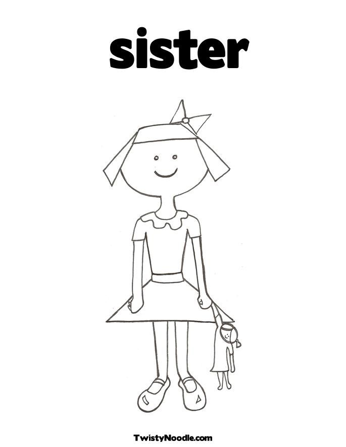 This is a graphic of Crafty big sister coloring book