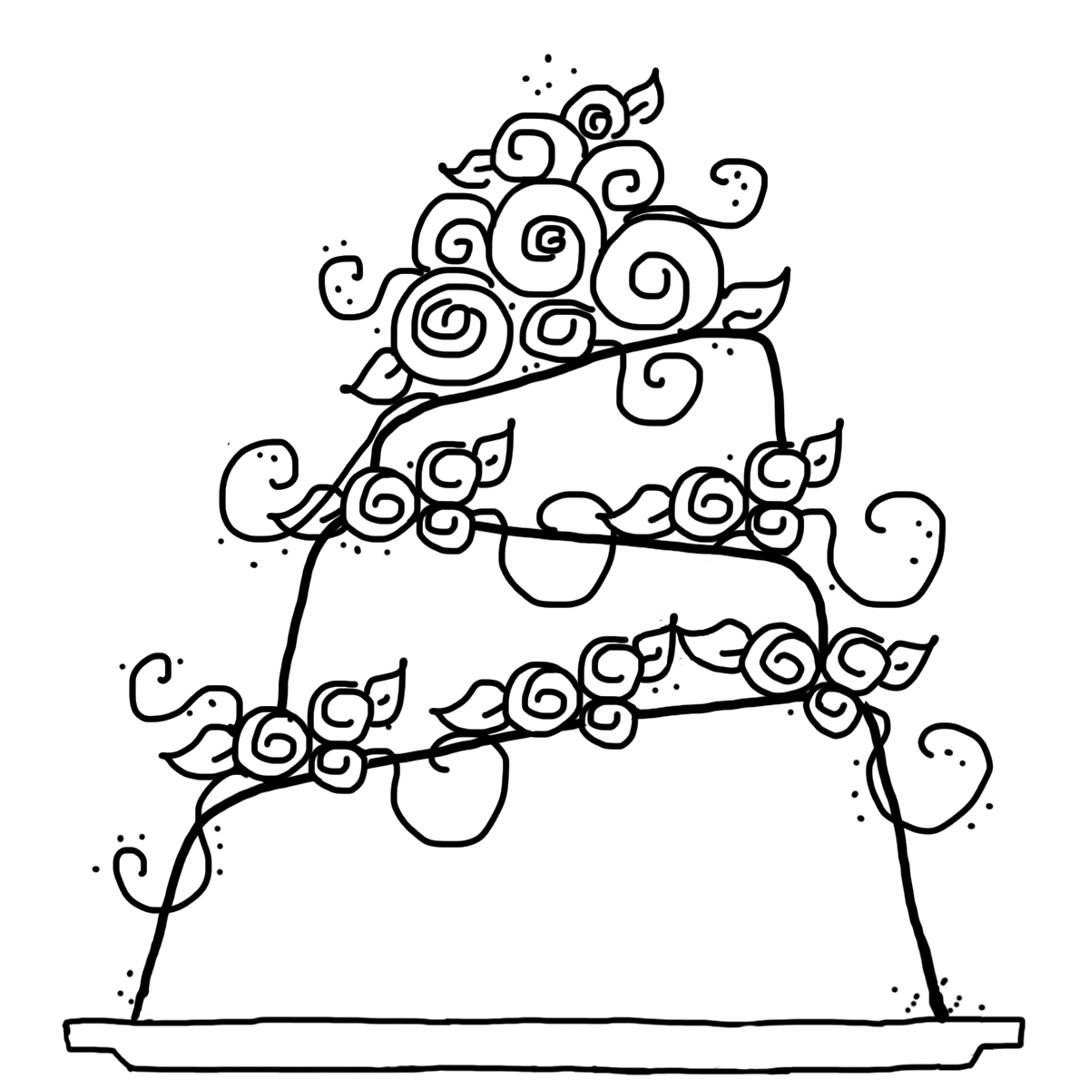 Wedding Cartoon Coloring Pages Coloring Home