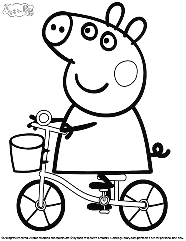 Peppa Pig Coloring Pages Coloring Home Peppa Pig Coloring Page