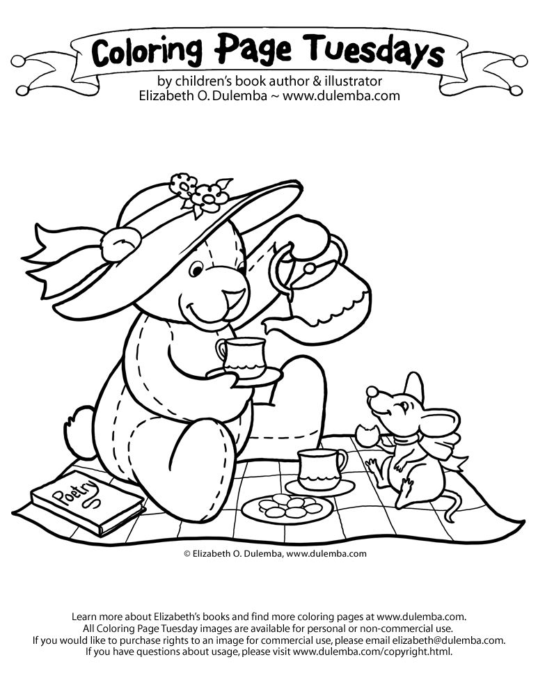 Tea Party Coloring Pages Print Coloring Home