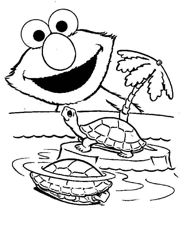 Elmo Free Coloring Pages