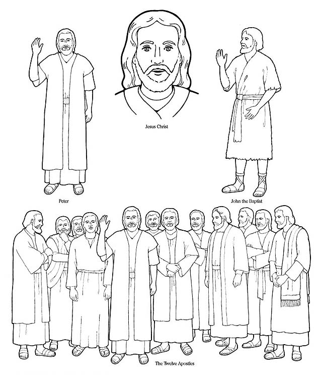 disciples coloring pages - photo#18