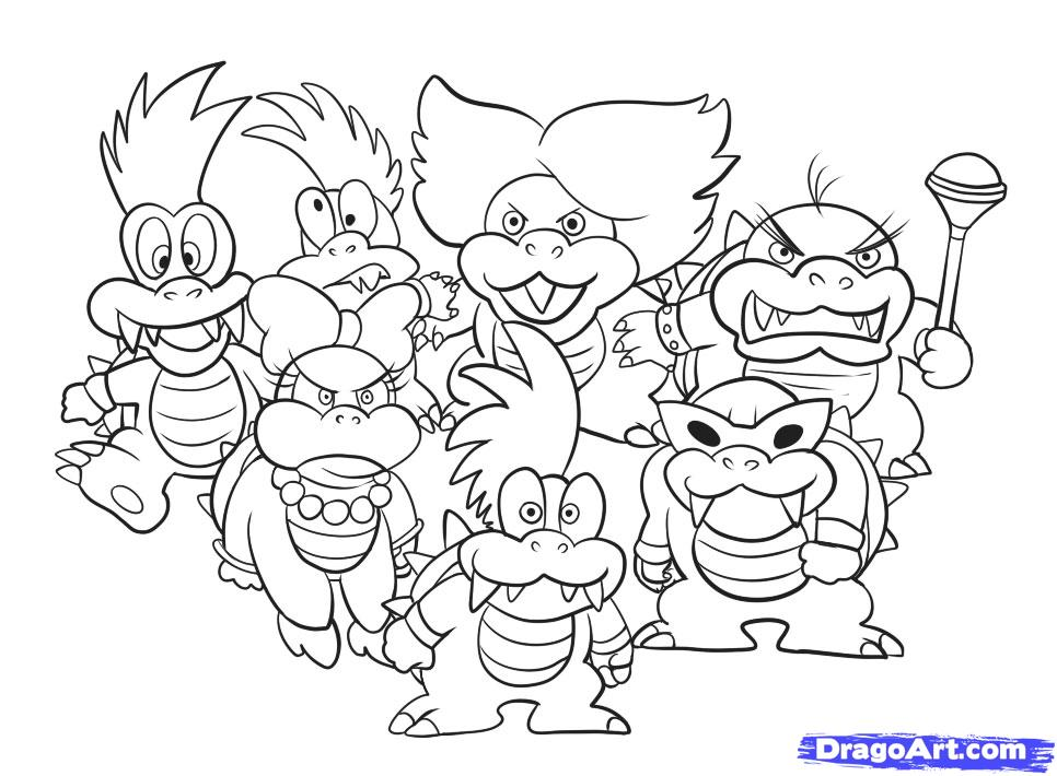 Bowser Pictures To Print And Color Coloring Pages For Kids And