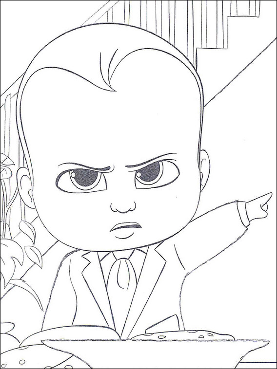 Boss Baby Coloring Pages 1
