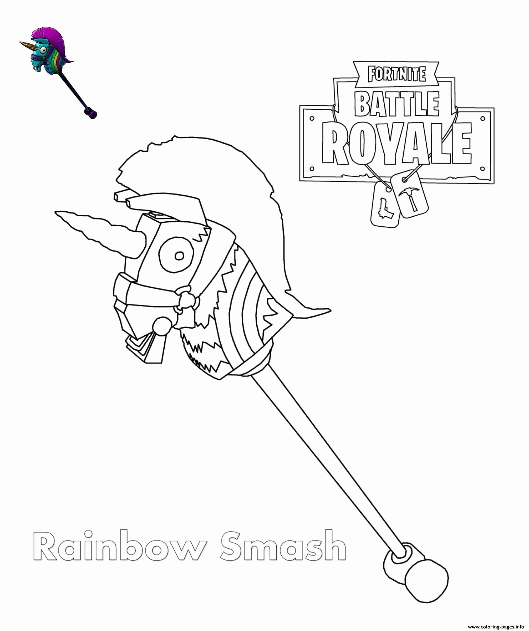 Coloring pages: Fortnite Printable Coloring Awesome Rainbow ...