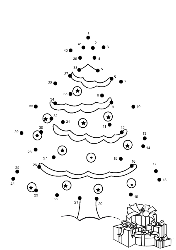 7 pics of christmas coloring pages connect the dots christmas ...