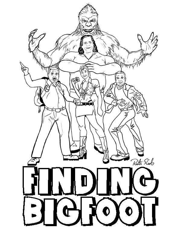 Finding Bigfoot Coloring Pages Coloring Home