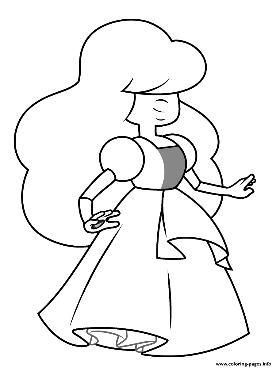 Rose Steven Universe Kids Coloring Pages Printable
