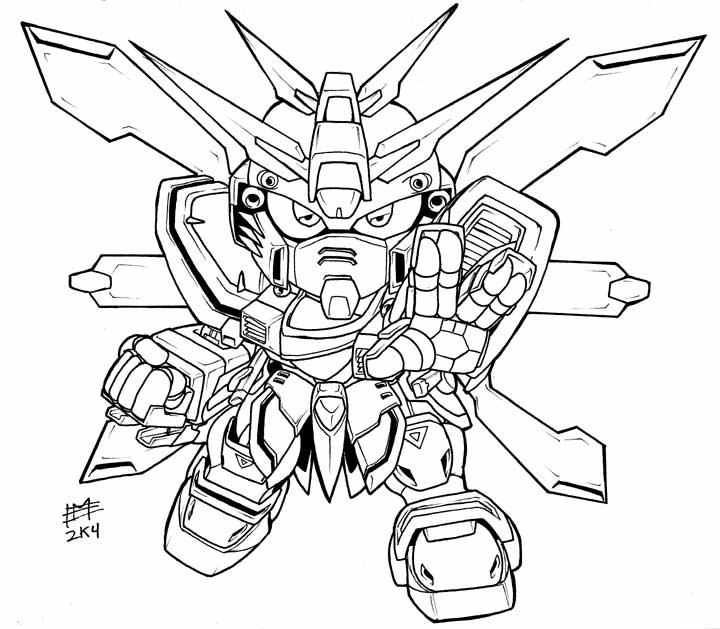 Gundam Coloring Pages - Coloring Home