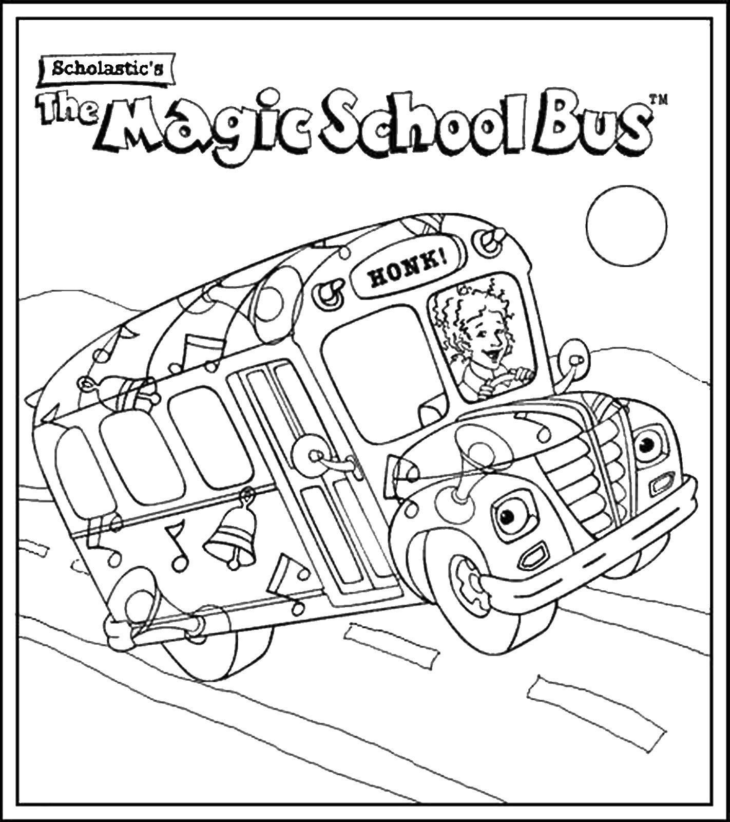 Magic school bus coloring pictures - The Magic School Bus Coloring Pages