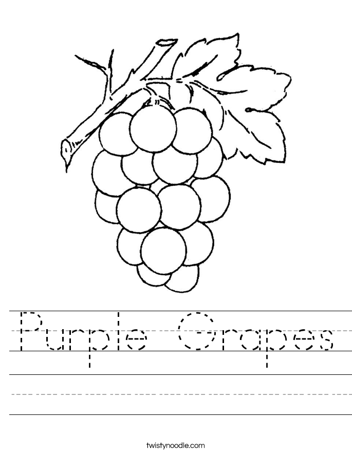the color purple number of page - Color Purple Worksheets For Preschool