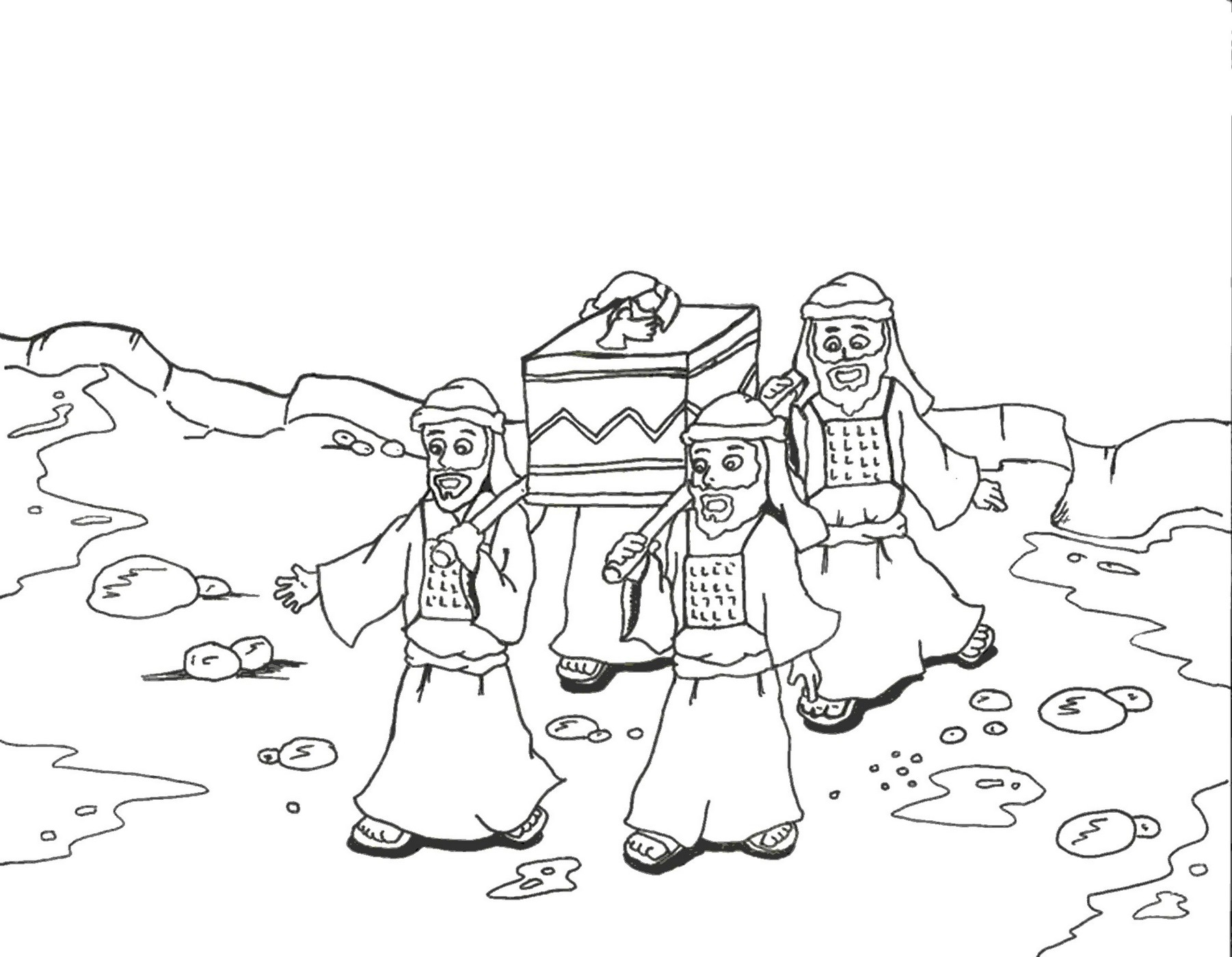 Coloring Pages For Joshua : Crossing the jordan river coloring pages az