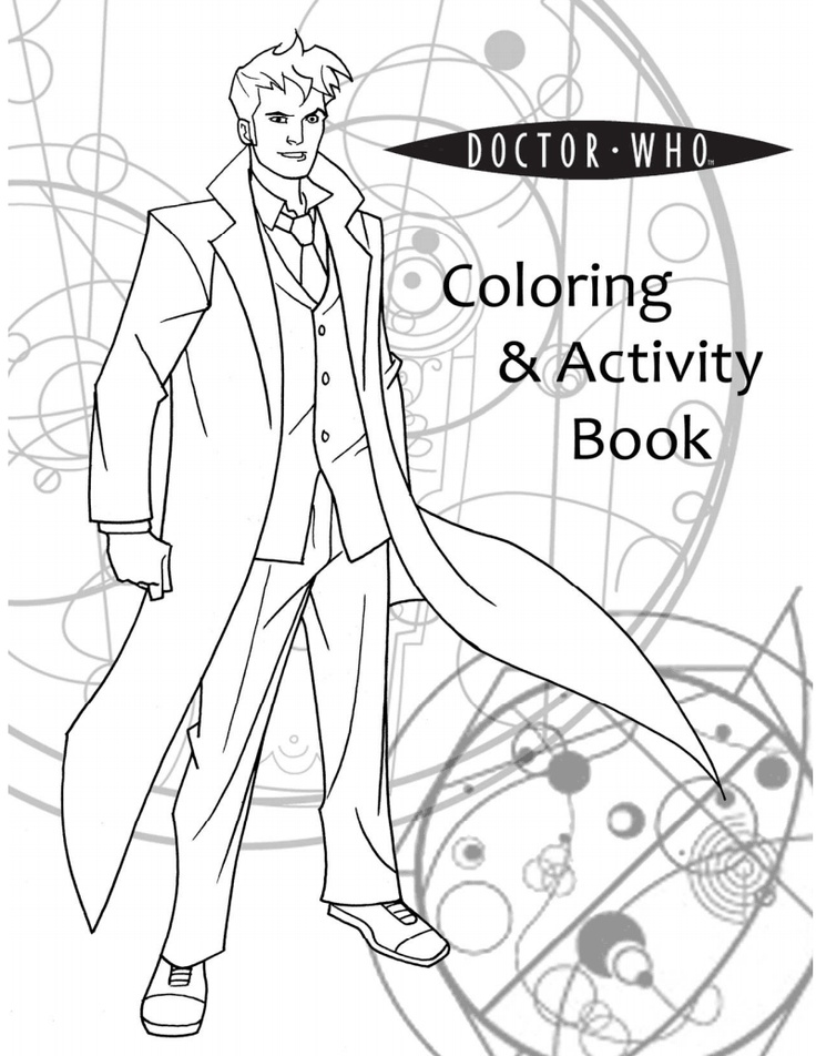 Doctor who adult coloring book coloring pages for Doctor who tardis coloring pages