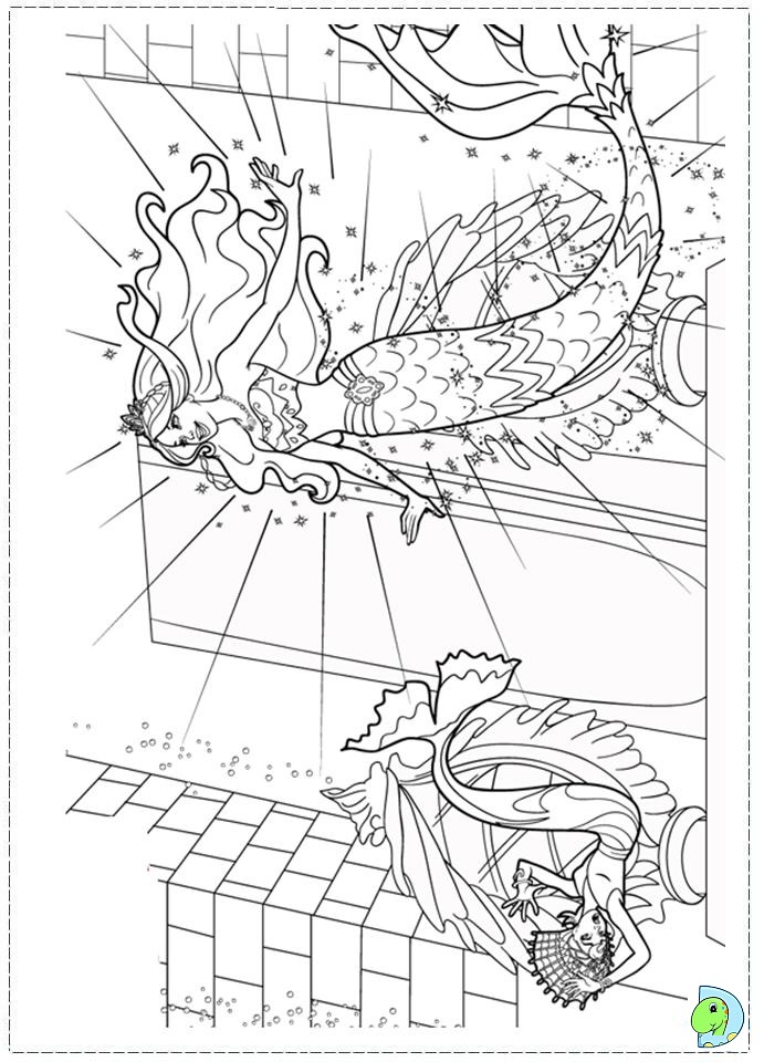 barbie mermadia coloring pages - photo#32