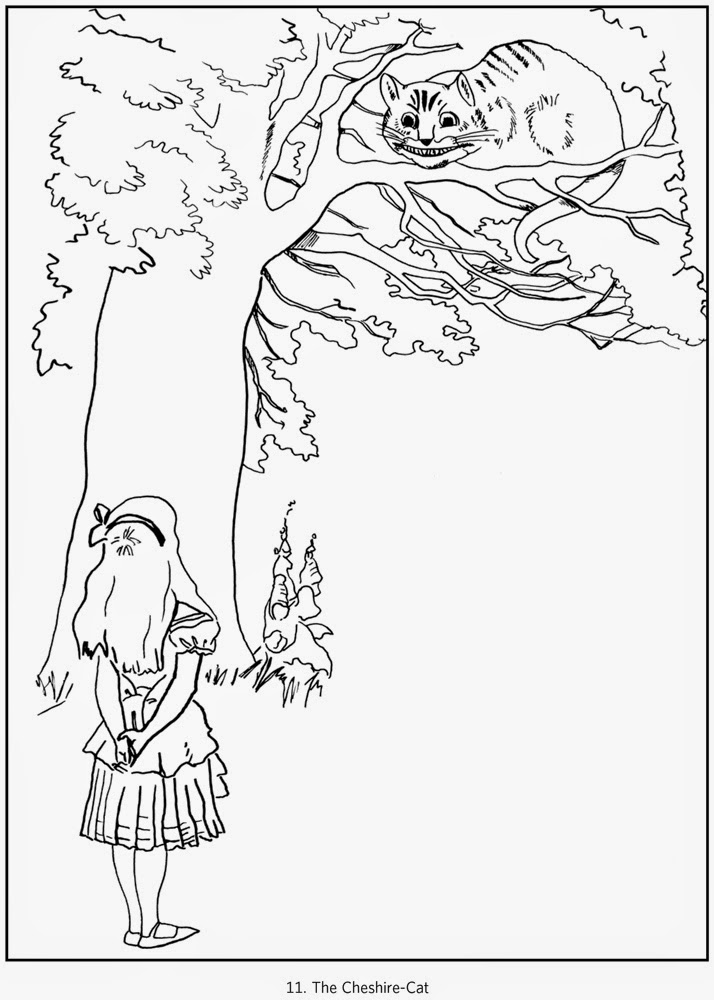 Cheshire Cat Coloring Page  Coloring Home