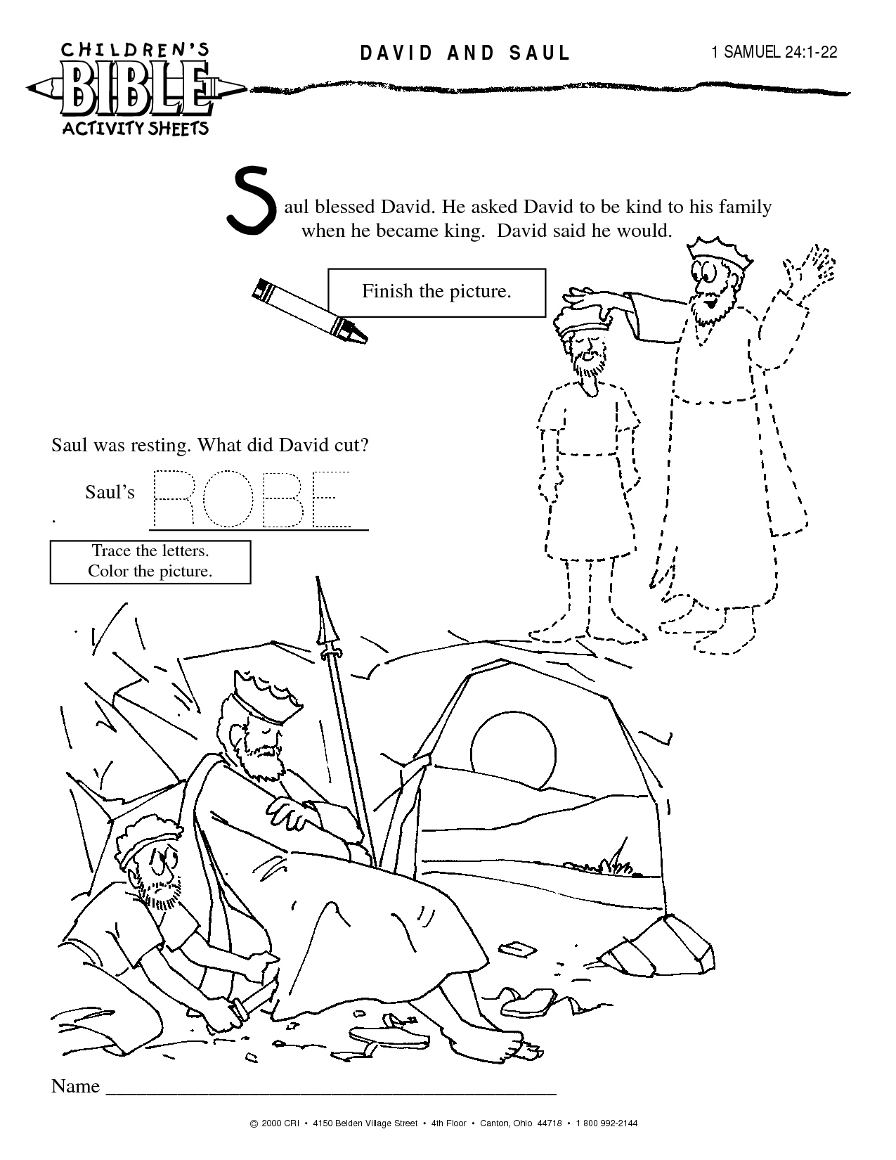 Childrens coloring sheet of saul and ananias - 8 Pics Of 1 Samuel 24 Coloring Pages King David And Saul