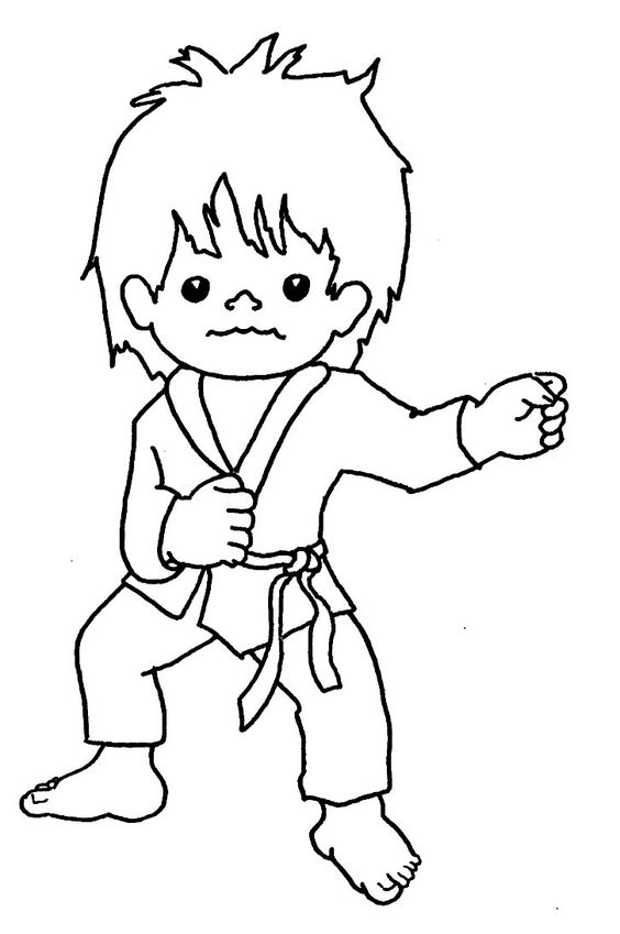 Taekwondo Coloring Pages  Coloring Home