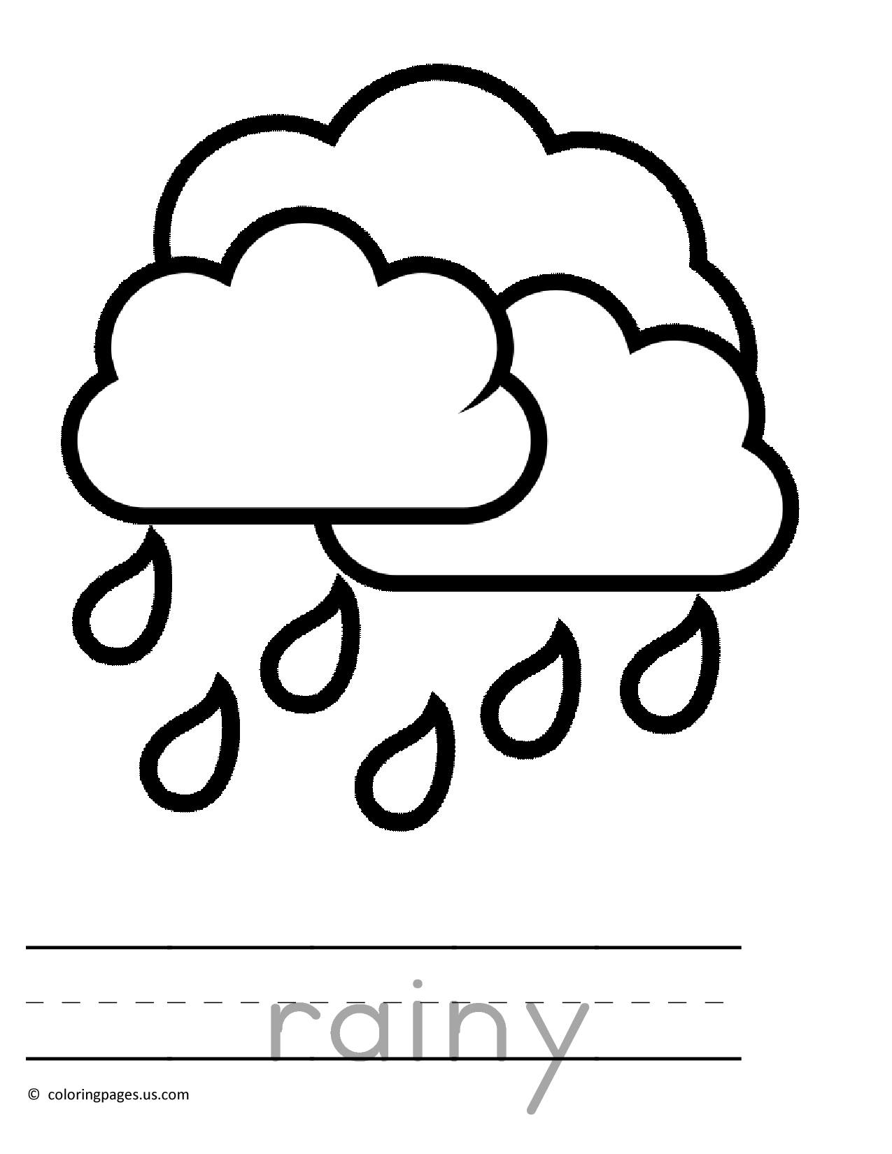 Rain - Coloring Pages For Kids And For Adults - Coloring Home