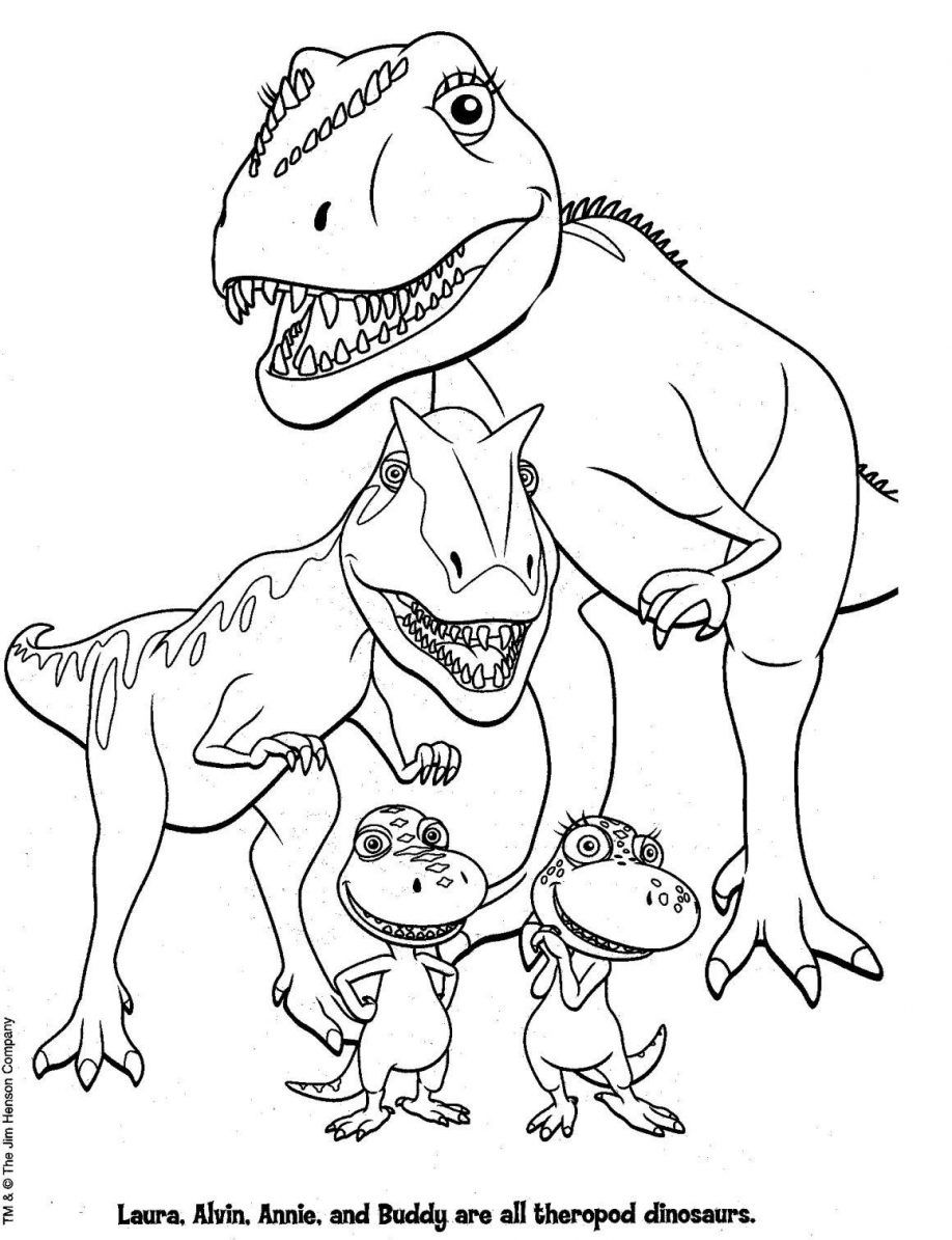 simple dinosaur coloring pages - photo#41