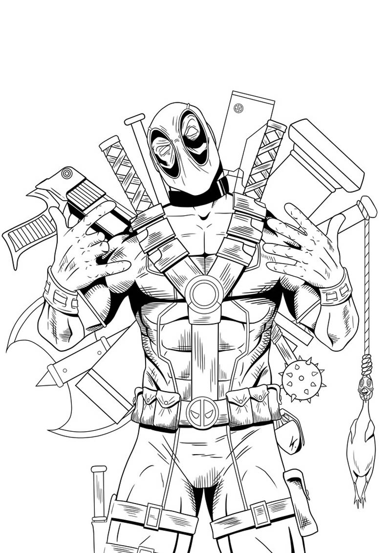 Deadpool Coloring Pages Printable Coloring Home