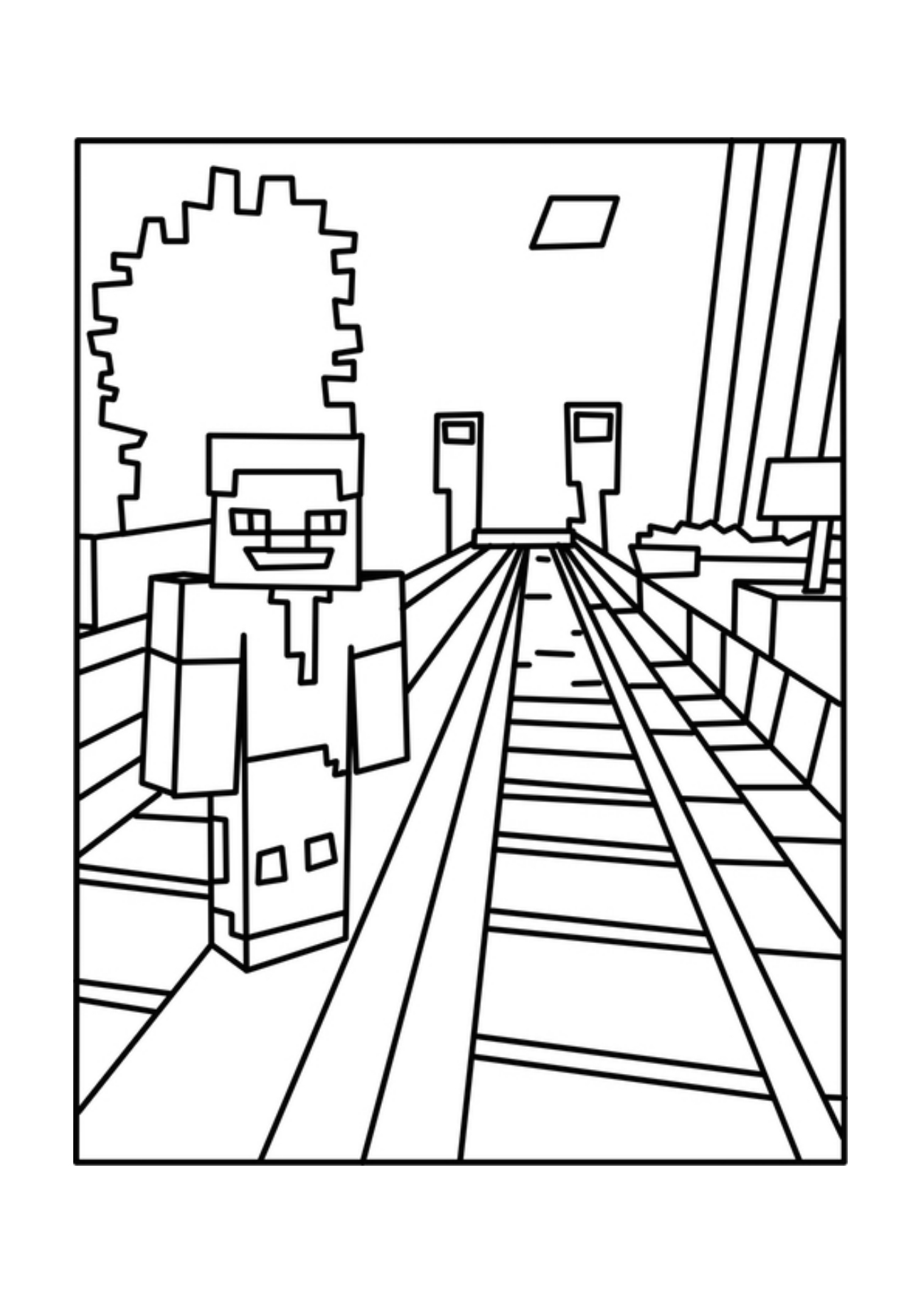Minecraft Coloring Book Download : Printable Minecraft Coloring Pages AZ Coloring Pages