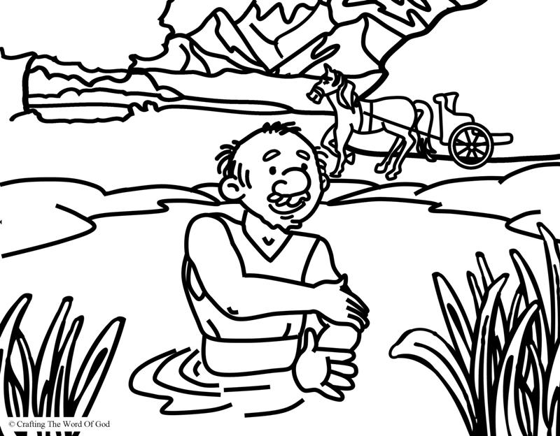 naaman and the servant girl coloring pages - photo #4
