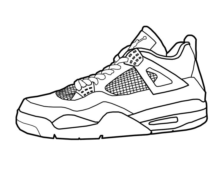 Jordan Shoe Coloring Pages - Coloring Home