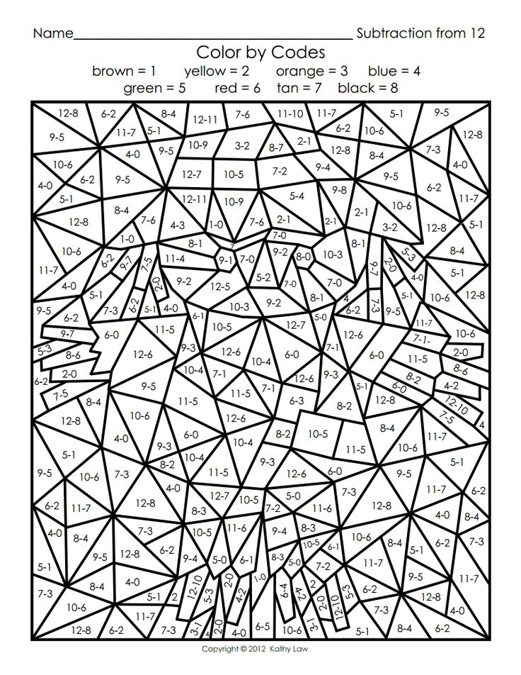 Advanced Color By Number Coloring Pages Difficult Numbers